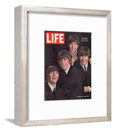 The Beatles, Ringo Starr, George Harrison, Paul Mccartney and John Lennon, August 28, 1964-John Dominis-Framed Premium Photographic Print