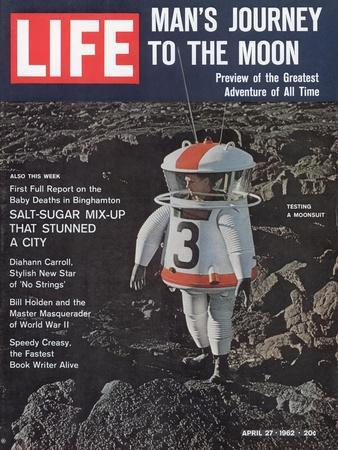 Moonsuit Being Tested, April 27, 1962-Fritz Goro-Stretched Canvas Print