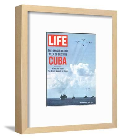 The Danger Filled Week of Decision: Cuba, US Navy Ships and Planes Off Cuba, November 2, 1962-Robert W^ Kelley-Framed Premium Photographic Print