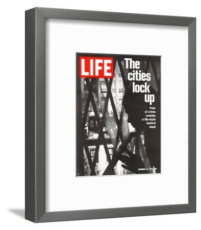 The Cities Lock Up, Woman at Gated Window, November 19, 1971-John Loengard-Framed Photographic Print