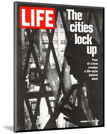 The Cities Lock Up, Woman at Gated Window, November 19, 1971-John Loengard-Mounted Photographic Print