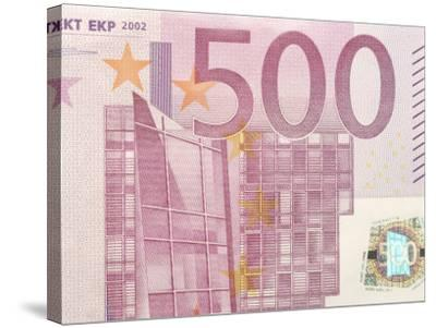 Detail of a Traditional Five Hundred Euro Banknote--Stretched Canvas Print