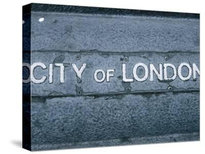 Sign for City of London, England--Stretched Canvas Print