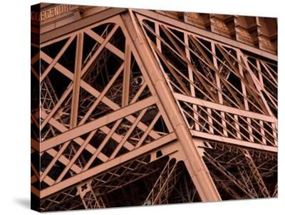 Close-Up of Intricate Details of Architectural Design of Eiffel Tower--Stretched Canvas Print