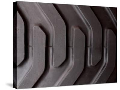 Close-Up of Treads and Grooves of an Industrial Tire--Stretched Canvas Print