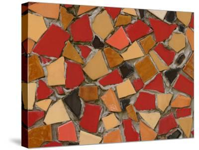 Close-Up of Abstract Red Mosaic Background--Stretched Canvas Print