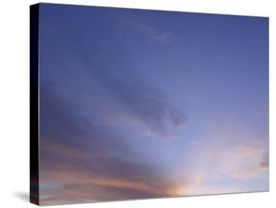 Stratus Clouds in Sky at Dusk--Stretched Canvas Print