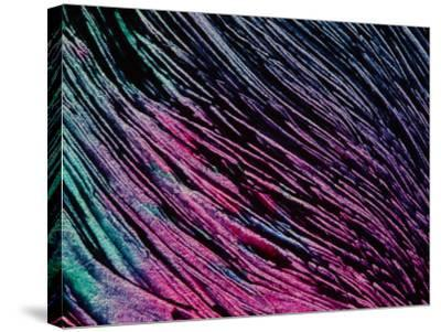 Purple and Blue Brush Strokes--Stretched Canvas Print
