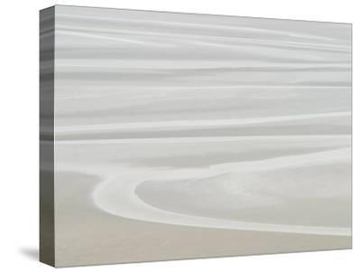 Picturesque Landscape of Placid and Serene Ocean and Beach--Stretched Canvas Print