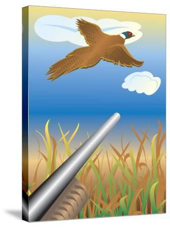 Duck Hunting--Stretched Canvas Print