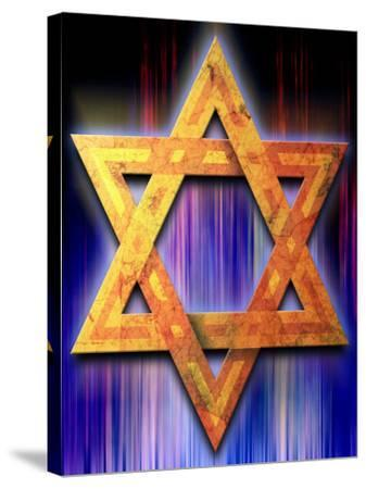 Star of David Symbol--Stretched Canvas Print