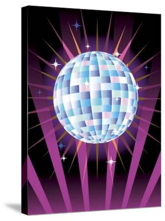 Disco Ball--Stretched Canvas Print