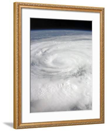 Hurricane Ike Covering More than Half of Cuba, from International Space Station-Stocktrek Images-Framed Photographic Print