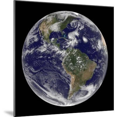 Earth and Four Storm Systems-Stocktrek Images-Mounted Photographic Print