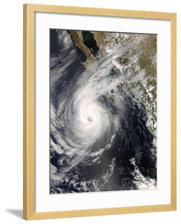 Hurricane Norbert Off Mexico, October 10, 2008-Stocktrek Images-Framed Photographic Print
