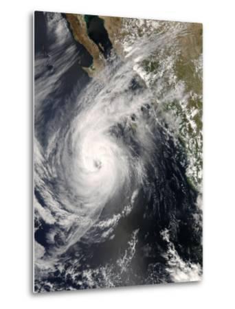 Hurricane Norbert Off Mexico, October 10, 2008-Stocktrek Images-Metal Print