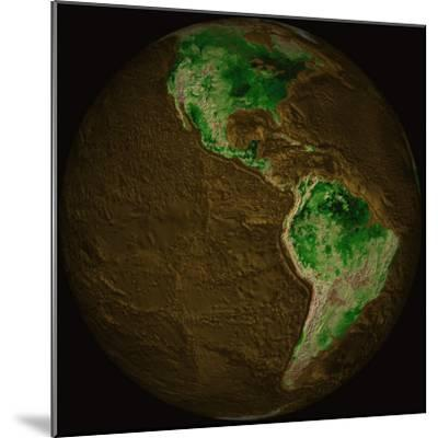 Topographic Map of Earth-Stocktrek Images-Mounted Photographic Print