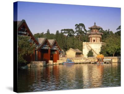 Kunming Hu Lake, Summer Palace Park, Summer Palace, Beijing, China-Gavin Hellier-Stretched Canvas Print