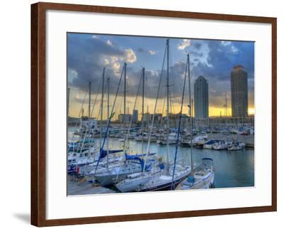 Port Olimpic, Barcelona, Spain-Alan Copson-Framed Photographic Print