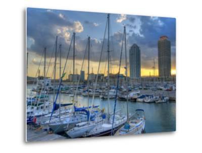 Port Olimpic, Barcelona, Spain-Alan Copson-Metal Print