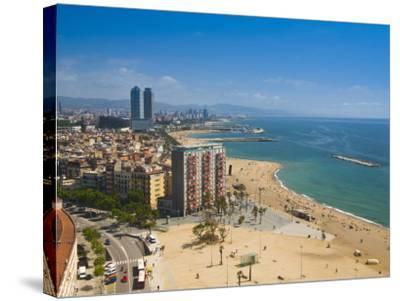La Barceloneta, Platja De La Barceloneta, Barcelona, Spain-Alan Copson-Stretched Canvas Print