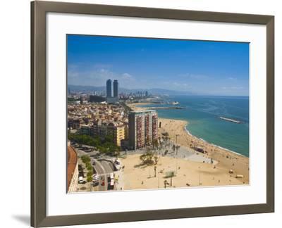 La Barceloneta, Platja De La Barceloneta, Barcelona, Spain-Alan Copson-Framed Photographic Print