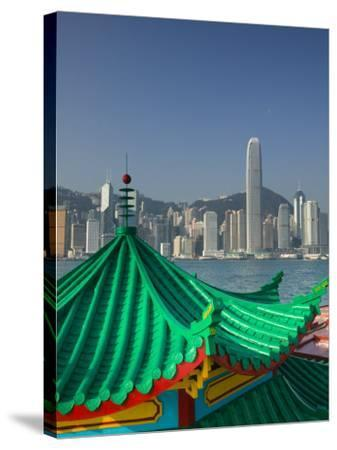 Kowloon, Victoria Harbour, International Financial Centre, Central, Hong Kong, China-Walter Bibikow-Stretched Canvas Print