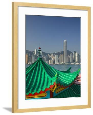 Kowloon, Victoria Harbour, International Financial Centre, Central, Hong Kong, China-Walter Bibikow-Framed Photographic Print
