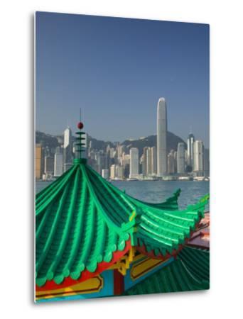 Kowloon, Victoria Harbour, International Financial Centre, Central, Hong Kong, China-Walter Bibikow-Metal Print