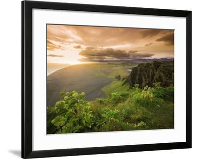 Black Sand Beach, Dyrholaey, South Coast, Iceland-Michele Falzone-Framed Photographic Print