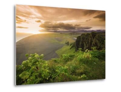 Black Sand Beach, Dyrholaey, South Coast, Iceland-Michele Falzone-Metal Print