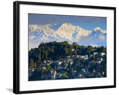 Darjeeling and Kanchenjunga, West Bengal, India-Jane Sweeney-Framed Photographic Print
