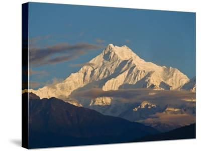 Kangchendzonga Range, View of Kanchenjunga, Ganesh Tok Viewpoint, Gangtok, Sikkim, India-Jane Sweeney-Stretched Canvas Print