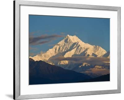 Kangchendzonga Range, View of Kanchenjunga, Ganesh Tok Viewpoint, Gangtok, Sikkim, India-Jane Sweeney-Framed Photographic Print