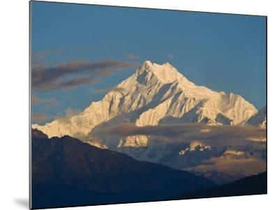 Kangchendzonga Range, View of Kanchenjunga, Ganesh Tok Viewpoint, Gangtok, Sikkim, India-Jane Sweeney-Mounted Photographic Print