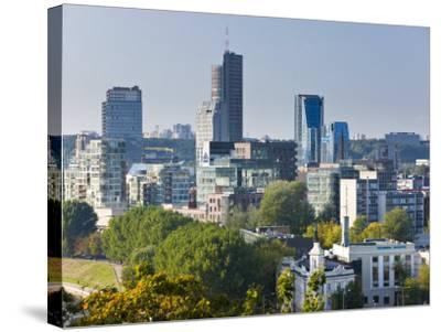 City Skyline, Vilnius, Lithuania-Gavin Hellier-Stretched Canvas Print