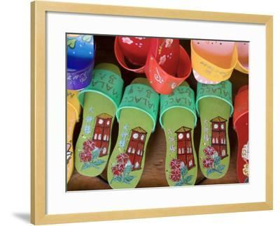 Sandals for Sale in Chinatown, Melaka, Malaysia-Peter Adams-Framed Photographic Print