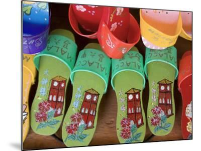 Sandals for Sale in Chinatown, Melaka, Malaysia-Peter Adams-Mounted Photographic Print