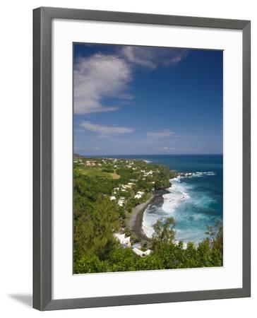 Reunion Island, South Reunion, Manapany-Les-Bains Seaside Town-Walter Bibikow-Framed Photographic Print