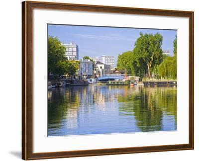 Canal Boats, Little Venice, Maida Vale, London, England-Jane Sweeney-Framed Photographic Print