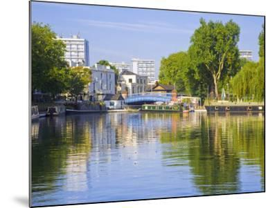 Canal Boats, Little Venice, Maida Vale, London, England-Jane Sweeney-Mounted Photographic Print