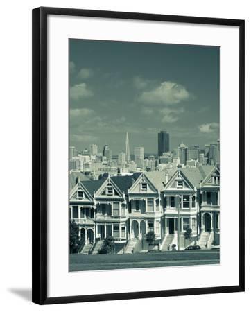 Alamo Square, San Francisco, California, USA-Walter Bibikow-Framed Photographic Print