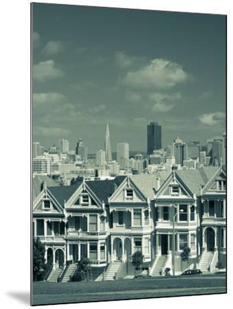 Alamo Square, San Francisco, California, USA-Walter Bibikow-Mounted Photographic Print