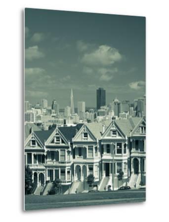 Alamo Square, San Francisco, California, USA-Walter Bibikow-Metal Print