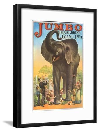 Jumbo, the Children's Giant Pet--Framed Giclee Print