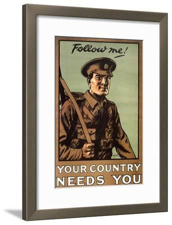 Follow Me! Your Country Needs You, c.1914--Framed Giclee Print
