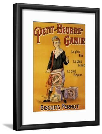 Label of Pernot Biscuits: Petit Beurre Gamin, c.1901-Jack Abeille-Framed Giclee Print