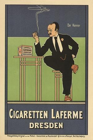 Cigaretten Laferme, Dresden, c.1897-Fritz Rehm-Stretched Canvas Print