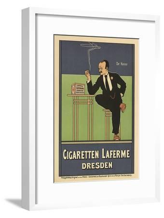 Cigaretten Laferme, Dresden, c.1897-Fritz Rehm-Framed Giclee Print