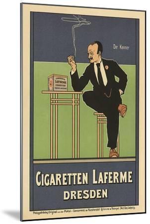 Cigaretten Laferme, Dresden, c.1897-Fritz Rehm-Mounted Giclee Print